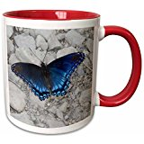 butterfly red mug